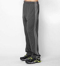 Adidas Men's Training Climacore 3 Stripe Pants, Black/Charcoal Grey, Medium - $24.74