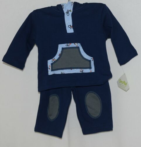 SnoPea Baby Boy Blue Ariplanes Long Sleeve Outfit 9 Months