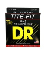 DR Guitar Strings Electric Tite-Fit 09-42 Lite Handmade USA - $10.86