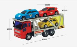 Zeus Toys Mini Carrier Trailer Truck Car Push and Go Friction Powered Toy image 3