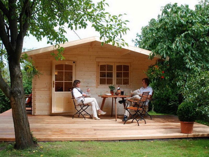 BZB Escape Log Cabin Kit, 12'x9',Inside: 113 SQF, 1-3/4
