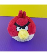 """Angry Birds Red Plush 5"""" 2011 Commonwealth Stuffed Animal No Sound"""