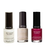 Set of 3 Revlon Colorstay Longwear Nail Polish Base Coat Pink Cream Colors - $13.99