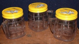 3 Vintage 4 Ounce Osterizer Mini-Blend and Store Containers With Yellow ... - $17.81