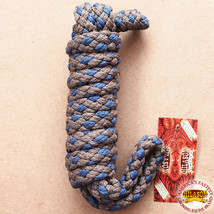 """Hilason Horse Riding Poly Lead Rope Brown Navy Blue  1/4"""" X 8 Ft. U-H369 - $19.79"""