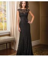 Mermaid Black Lace Mother Of the Bride Dresses Off Shoulder Formal Eveni... - $142.22