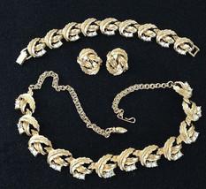 Vintage 3 pc Set Gold Tone Aurora Borelais Choker Bracelet Clip Earrings... - $40.00