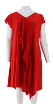 H Halston Jet Set Jersey Mixed Media Midi Dress Crimson M NEW A308891 - $40.57