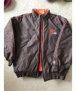 Cleveland Browns Heavy GAME DAY Winter Jacket XL Elastic bottom Wrist Qu... - $23.73