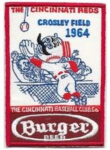 Beer Baseball Cincinnati Reds & Burger Beer Crosley Field 1964 AL Promo Patch lg - $11.99