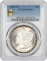 1878-CC $1 PCGS MS65+ Popular First-Year Carson City Morgan - $1,852.70