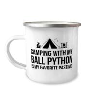 Ball Python Camping Mug, Funny Ball Python Camper Mug, Stainless Steel R... - $17.95