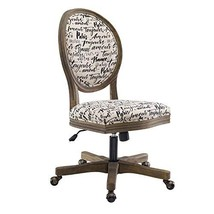 Linon Home Décor OC099PAR01U Brea Paris Office Chair, White - $384.79
