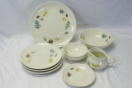 Franciscan Autumn Lot of 9 Plates Bowls Pitcher  - $48.99