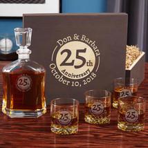 Landmark Anniversary Engraved Whiskey Set with Wood Gift Box - $149.95