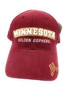 Vintage Minnesota Golden Gophers Adjustable Strapback Baseball Cap Hat S... - $24.73