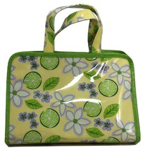 Avon Travel Case New Green & Yellow Makeup Cosmetics Bag Pouch NEW - $13.86