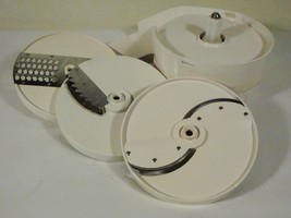Oster Regency Kitchen Center Food Processor Parts Cutting Discs Discharge Chute  - $16.91