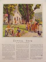 1940 H.J. Heinz One Room Schoolhouse playground Horse & Buggy waterpump ... - $9.99
