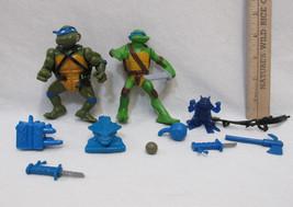 2 Teenage Mutant Ninja Turtles Action Figures Toys  Leonardo Accessories... - $12.22