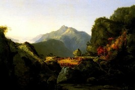 Scene From The Last Of The Mohicans 1827 American Painting By Thomas Cole Repro - $10.96+