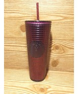 Starbucks 2020 Holiday - Studded Grid Cold Cup Tumbler - Venti - Berry Plum - $59.99