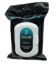 "AXE On-The-Go Deodorant Wipes ""Apollo"" Scent 25 count / NEW - $8.00"
