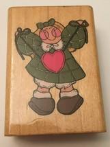 CoMotion Joy #809 Rubber Stamp Plush Doll Heart Valentines Donna Malone Crafts - $3.00