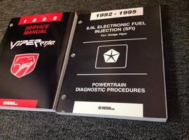 1995 Dodge Viper Models Service Shop Repair Manual Set W Powertrain Book Oem - $118.75