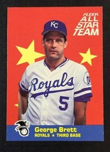 1986 Fleer All Star Team #3 George Brett Kansas City Royals HOF - $1.93