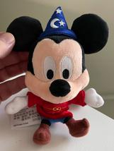Disney Parks Sorcerer Mickey Mouse Plush Keychain Purse Hanger Key Chain NEW - $24.90