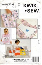 Kwik Sew 1798 Baby Bib, Play Quilt, Carry Along Changing Pad Kerstin Mar... - $11.47