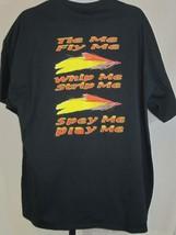 rogers fly fishing pistol river oregon art black 2xL mens cotton T shirt - $19.79