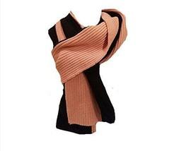 Kate Spade High Low Color Block Wool Muffler,Black/Rose Jade Scarf - $84.14