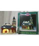 MEMORIES COLLECTION ILLUMINATED PORCELAIN Church with Figurine  - $24.74