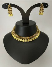 Indian Fashion Traditional Yellow Gold Choker Necklace Jewelry - $13.86