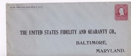The United States Fidelity And Guaranty Co. Vintage Unused Envelope - $5.34