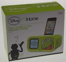 Disney iHome Kermit The Frog Dual Alarm LED Clock Speaker System for iPo... - $17.54 CAD