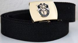 US Army Special Forces Black Belt & Brass Buckle  - $14.99