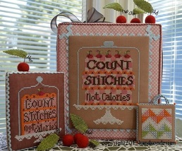 Count Stitches Not Calories cross stitch chart Hands On Design - $7.20
