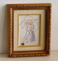 "Framed Canvas Print by  Bogart's Mom: Maud Humphrey, ""The Magic Kitten"" - $13.99"