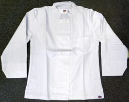 Dickies Chef Coat Jacket S CW070309A Restaurant Button Front White Uniform New image 5