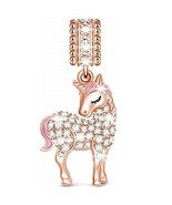 Unicorn Charms Beads 925 Sterling Silver Charms for Bracelets & Necklace... - $82.90