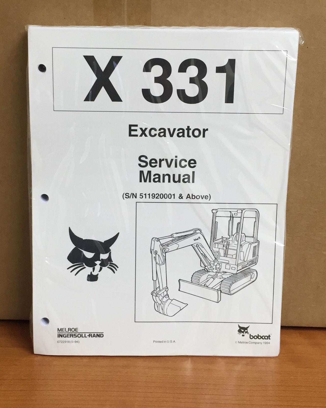 bobcat 331 service manual and parts manual and similar items  11