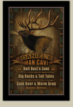 Man Cave Personalized Print / Poster / Sign / Elk - $19.95