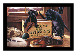 Dog House Personalized Print / Poster / Sign - $19.95