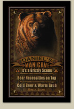 Man Cave Personalized Print, Sign, Poster - Grizzly Bear - $19.95