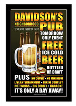 Free Beer Tomorrow Bar Decor Personalized Print / Pub Sign / Poster - $19.95