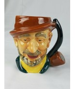 Vintage Staffordshire Toby Personnage Tasse Cruche Hayseed Barbe Tabac T... - $49.52