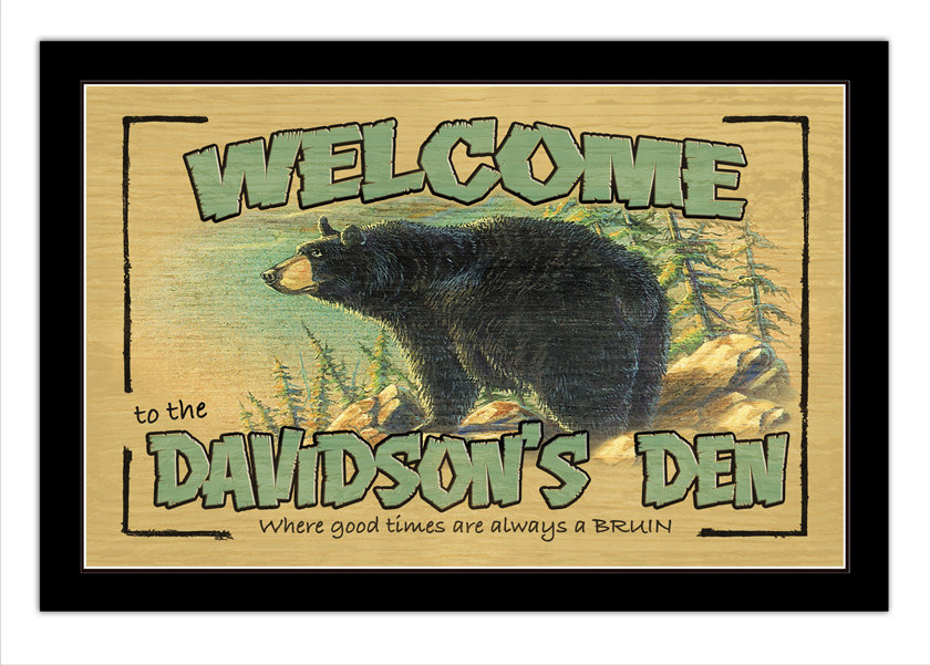 Bears Den Personalized Print / Poster / Sign - $19.95